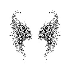 Turning Wings vector image
