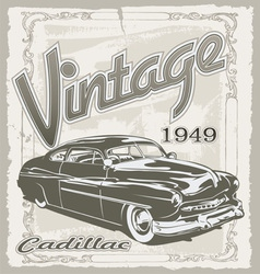 Vintage classic car vector image
