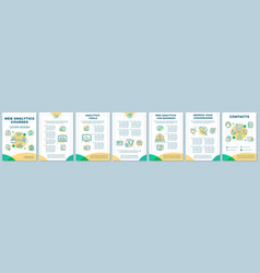 Web analytics brochure template layout vector