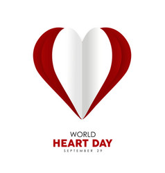 World heart day cutout design for health care vector