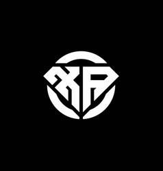 Xa monogram logo with diamond shape and ring vector