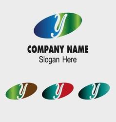 Y logo Company name symbol letter Y vector image