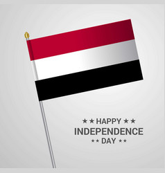 Yemen independence day typographic design with vector