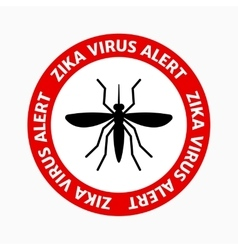 Zika virus alert mosquito icon vector