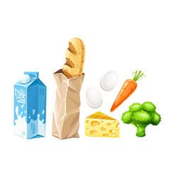 food set of organic vector image vector image