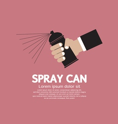 Hand Holding Spray Can EPS10 vector image