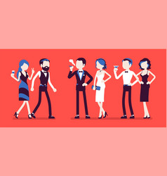high society party vector image