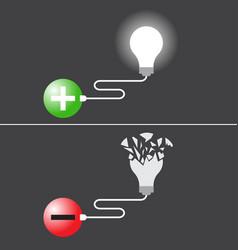 positivity creates idea and negativity destroys vector image vector image