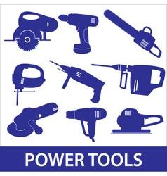 Power tools icon set eps10 vector