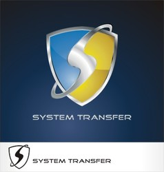 system transfer logo vector image