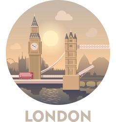 Travel destination London vector image vector image