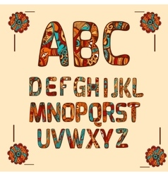 Zentangle Alphabet Colored vector image