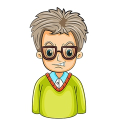 An angry businessman wearing an eyeglass vector image