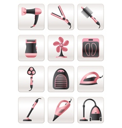 Cosmetic cleaning and heating appliances vector image vector image