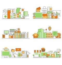 modern set of creative flat backgrounds vector image vector image