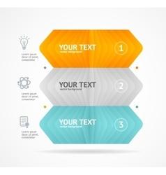 Option banner infographic concept vector image vector image
