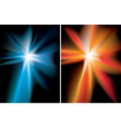 space starburst vector image vector image
