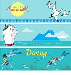 Summer holiday banners vector image vector image