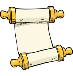 ancient scroll doodle vector image vector image