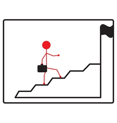 business man climbs up stair steps to achieve vector image vector image