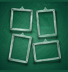chalk cute photo frames abstract picture frame vector image vector image