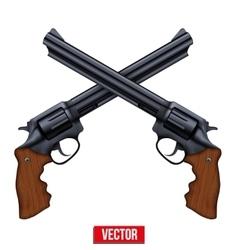 Cross of Revolvers vector image vector image