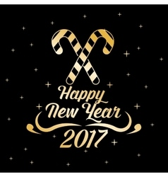 happy new year 2017 greeting card gold letter vector image vector image