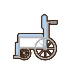 wheelchair handicap medical symbol vector image