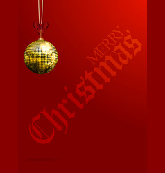 christmas red background with decorative text and vector image vector image