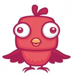 cute baby bird vector image