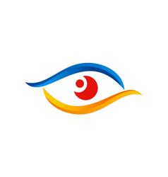 eye vision colored optic logo vector image