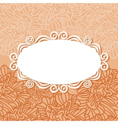 Floral pattern card background vector image vector image