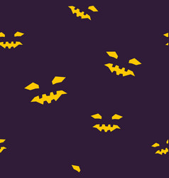 seamless pattern of halloween face vector image vector image