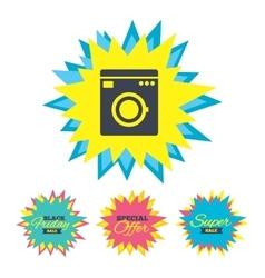 Washing machine icon Home appliances symbol vector image vector image