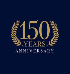 150 anniversary royal logo vector