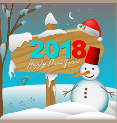 2018 happy new year card or background with vector image