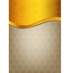 Abstract brown celebration paper with golden vector image