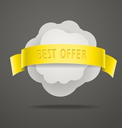 Abstract speech cloud with color ribbon vector image