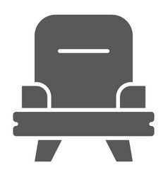 armchair glyph icon furniture and home chair vector image