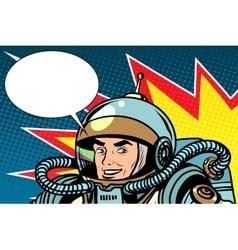 Astronaut joyful energetic vector