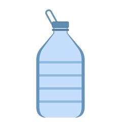 Big plastic bottle icon flat style vector image