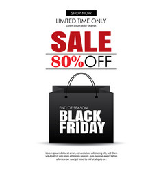 black friday sale flyer template white background vector image