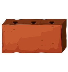 Brick with three holes vector