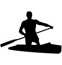 Canoeing athlete sports canoe vector