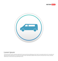 Car icon - white circle button vector