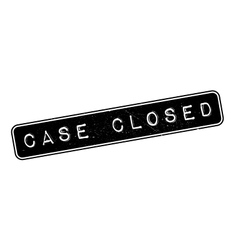 Case Closed rubber stamp vector