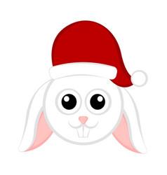 christmas cute rabbit avatar vector image