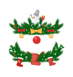 christmas new year holidays decorations isolated vector image