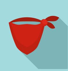 Cowboy bandana icon flat style vector