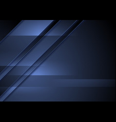 dark blue abstract corporate material background vector image